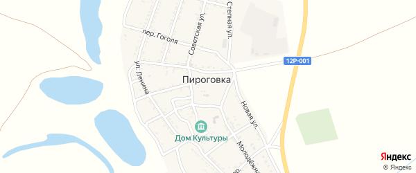 Колхозный переулок на карте села Пироговки с номерами домов