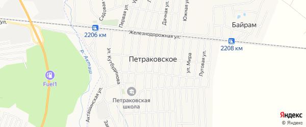 Карта Петраковского села в Дагестане с улицами и номерами домов