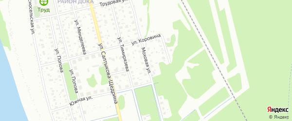 Моховая улица на карте Котласа с номерами домов