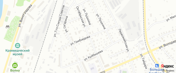 Улица Грибоедова на карте Котласа с номерами домов