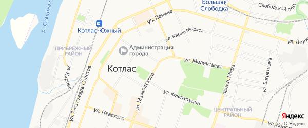 ГСК N2 на карте улицы Маяковского с номерами домов