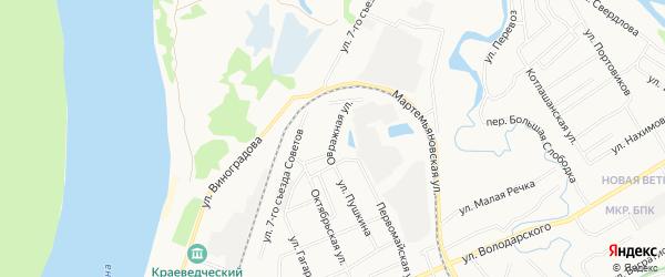 ГСК N55 на карте Овражной улицы с номерами домов
