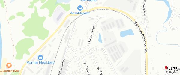 Овражная улица на карте Котласа с номерами домов