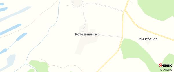 Карта деревни Котельниково в Архангельской области с улицами и номерами домов
