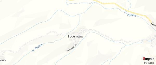 Карта села Гортколо в Дагестане с улицами и номерами домов