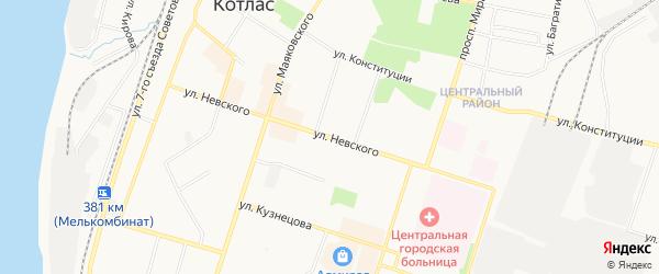 ГСК Север на карте улицы Невского с номерами домов