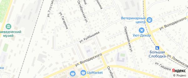 Октябрьская улица на карте Котласа с номерами домов