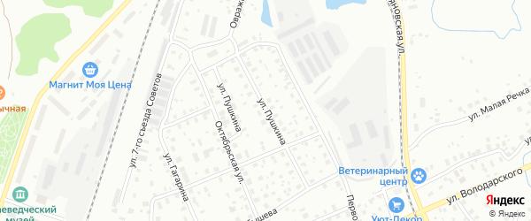 Улица Пушкина на карте Котласа с номерами домов