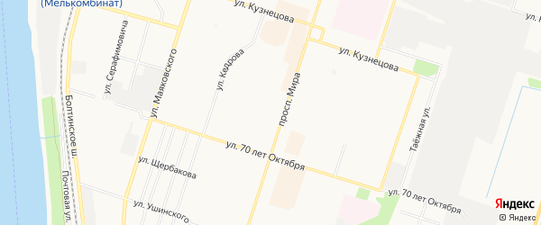 ГСК N23 на карте проспекта Мира с номерами домов