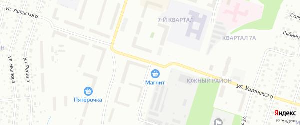 Улица Ушинского на карте Котласа с номерами домов