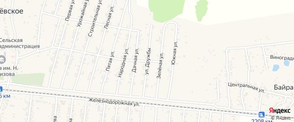 Улица Дружбы на карте Могилевского села с номерами домов