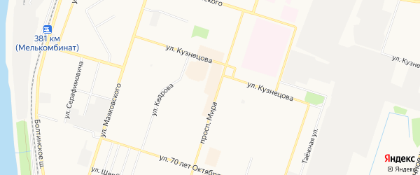 ГСК N31 на карте проспекта Мира с номерами домов