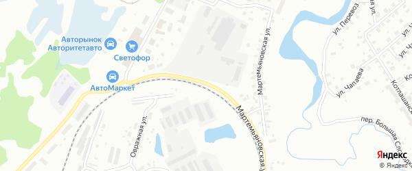 Мартемьяновская улица на карте Котласа с номерами домов
