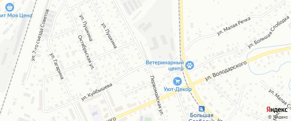 Первомайская улица на карте Котласа с номерами домов