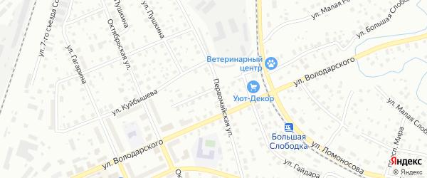Улица Добролюбова на карте Котласа с номерами домов