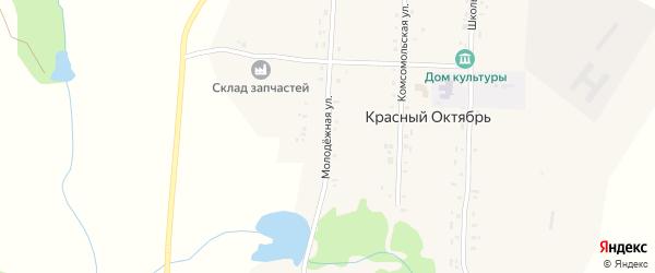 Молодежная улица на карте поселка Красного Октября с номерами домов