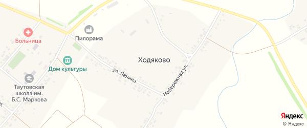 Набережная улица на карте деревни Ходяково с номерами домов