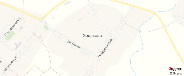 Улица Ленина на карте деревни Ходяково с номерами домов