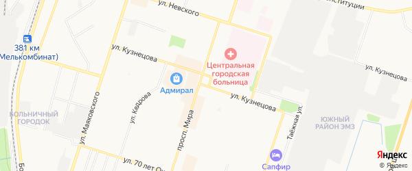 ГСК N137 на карте улицы Кузнецова с номерами домов