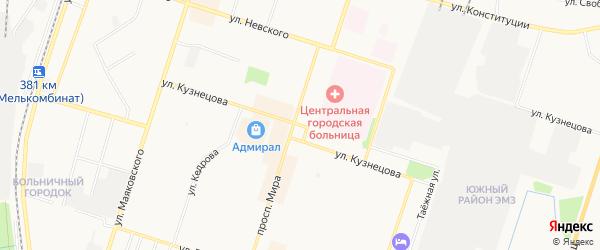 ГСК Ромашка на карте улицы Кузнецова с номерами домов