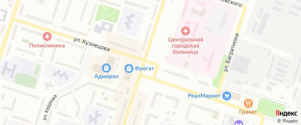 Улица Кузнецова на карте Котласа с номерами домов
