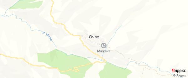 Карта села Очло в Дагестане с улицами и номерами домов