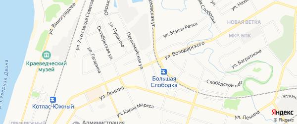 ГСК N47 на карте улицы Володарского с номерами домов