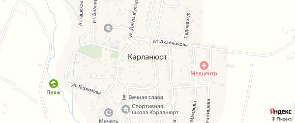 Мечетская улица на карте села Карланюрта с номерами домов