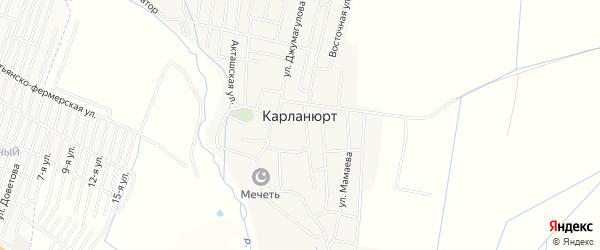 Карта села Карланюрта в Дагестане с улицами и номерами домов