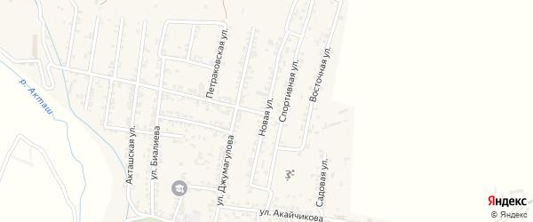 Новая улица на карте села Карланюрта с номерами домов