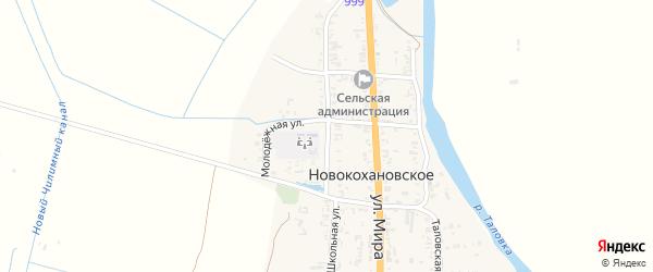 Школьная улица на карте Новокохановского села с номерами домов