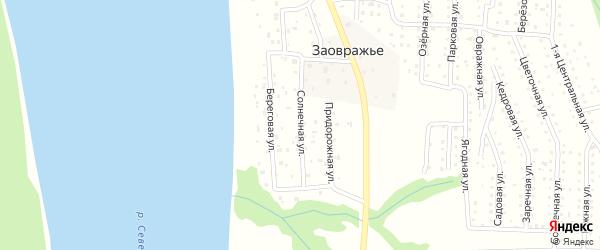 Солнечная улица на карте железнодорожной станции Новой Гари с номерами домов