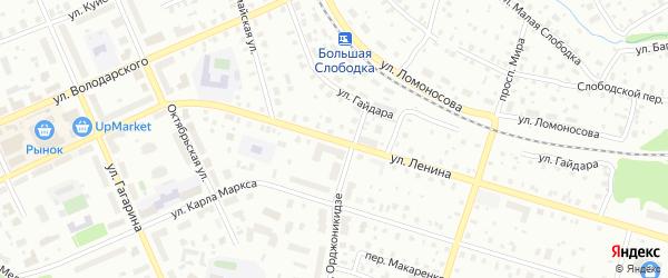 Улица Ленина на карте Котласа с номерами домов