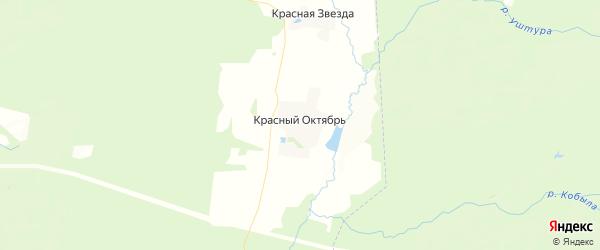 Карта Краснооктябрьского сельского поселения республики Чувашия с районами, улицами и номерами домов