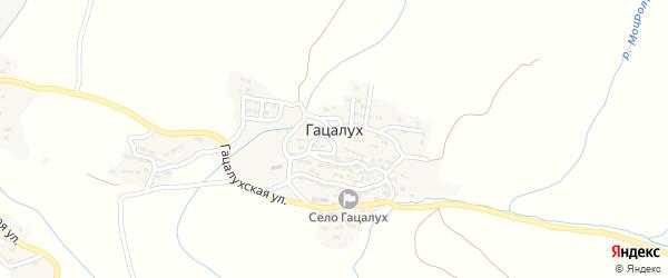 Заречная улица на карте села Гацалуха с номерами домов