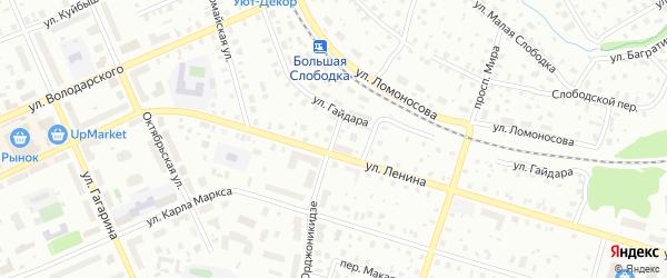 Улица Орджоникидзе на карте Котласа с номерами домов