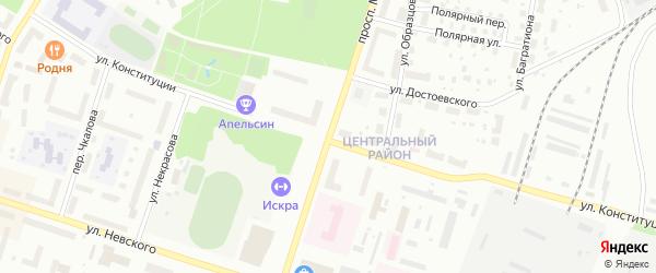 Проспект Мира на карте Котласа с номерами домов