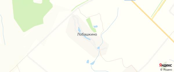 Карта деревни Лобашкино в Чувашии с улицами и номерами домов