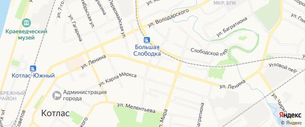 ГСК N127 на карте улицы Ленина с номерами домов