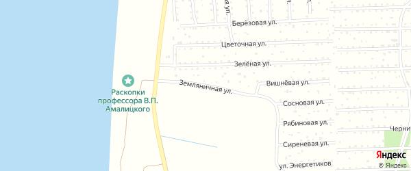 Земляничная улица на карте поселка СОТА Малодвинского с номерами домов