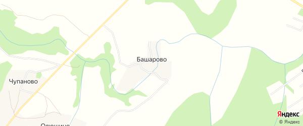 Карта деревни Башарово в Архангельской области с улицами и номерами домов