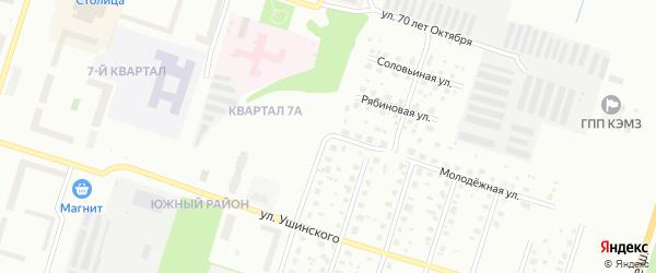 Таежная улица на карте Котласа с номерами домов