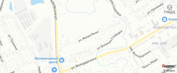 Улица Малая речка на карте Котласа с номерами домов