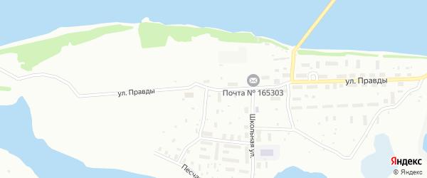 Улица Правды на карте Котласа с номерами домов