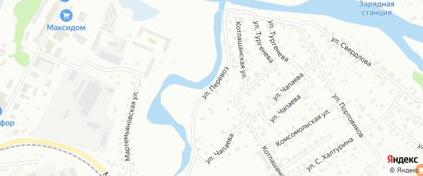 Улица Перевоз на карте Котласа с номерами домов