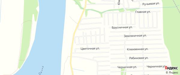 Карта садового некоммерческого товарищества СОТА Строителя в Архангельской области с улицами и номерами домов