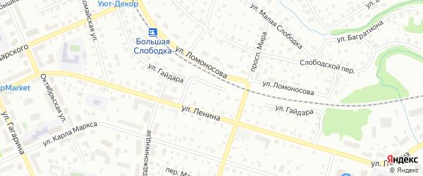 Улица Гайдара на карте Котласа с номерами домов