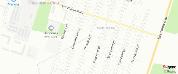 Полевая улица на карте Котласа с номерами домов