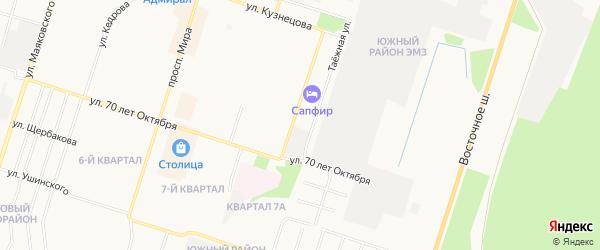 ГСК N11 на карте улицы 28 Невельской дивизии с номерами домов