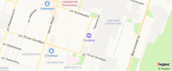 ГСК N48 на карте улицы 28 Невельской дивизии с номерами домов
